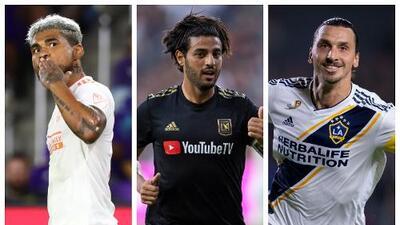 Un trío inigualable: Josef Martínez, Carlos Vela y Zlatan Ibrahimovic, candidatos al MVP