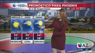 Cielos nublados y temperaturas frías en Arizona