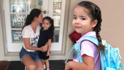Giulietta tuvo su primer día clases en medio de preparativos de huracán y Ana Patricia cuenta cómo lo tomó