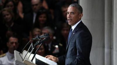 Las frases más destacadas de los discursos en los funerales de John McCain