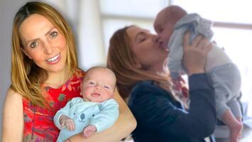 Érika Zaba tuvo que dejar por primera vez a su bebé pero encontró una manera de tenerlo cerca