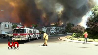 En Un Minuto: incendios forestales arrasan en California