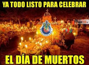 Memelogía: se acerca el Día de los Muertos y en las redes lo saben... ¡Por Chivas!