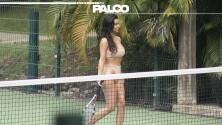 Cuando Kim Kardashian presumió ser tenista
