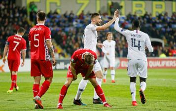 En fotos: Francia no decepciona y golea a Moldavia rumbo a la Eurocopa