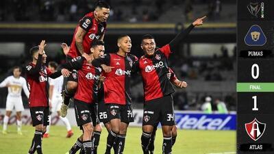 Pumas no se encuentra en casa y cae ante Atlas en debut de la Copa MX