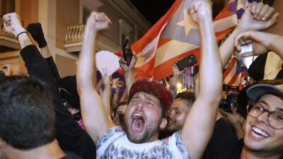 La protesta se vuelve celebración: así recibió Puerto Rico la noticia de la renuncia de Ricardo Rosselló