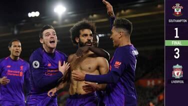 Liverpool sufre pero vence al Southampton y sigue siendo líder de la Premier League