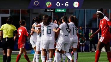 México le pasa por encima a San Cristobal en el preolímpico femenil