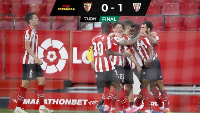 El Sevilla cae en casa con el Athletic y deja la carrera por el título de LaLiga