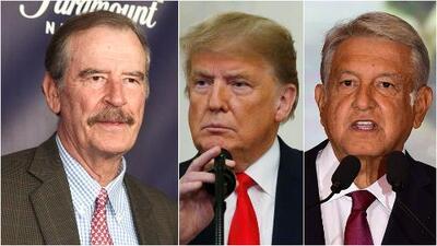 """Vicente Fox llama a Trump un """"populista de extrema derecha"""" y a AMLO """"un populista socialista"""""""