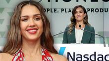 Jessica Alba hace historia como la latina más joven en fundar una empresa que cotice en la bolsa