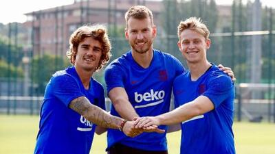 Griezmann, De Jong y 'Neto' ya entrenan como flamantes fichajes del Barcelona