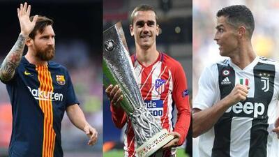 ¿Será? Griezmann afirma que ya se 'sienta en la misma mesa' que Messi y Cristiano