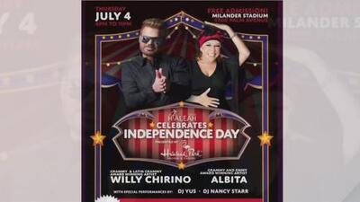 La celebración de Hialeah por el 4 de julio contará con Willy Chirino y Albita Rodríguez