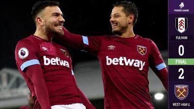 Chicharito dio asistencia de gol en el triunfo del West Ham ante el Fulham