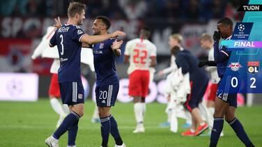 Lyon gana como visitante al Leipzig en la Champions League