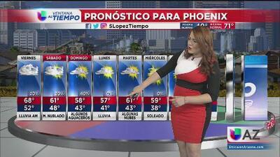 Nubes y precipitación para las próximas horas en Arizona