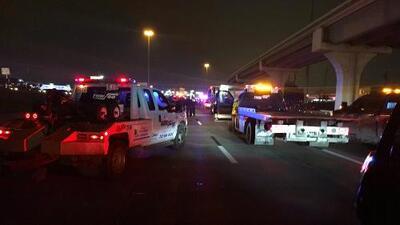Accidente mortal provoca el cierre de un tramo de la carretera I-45 Norte