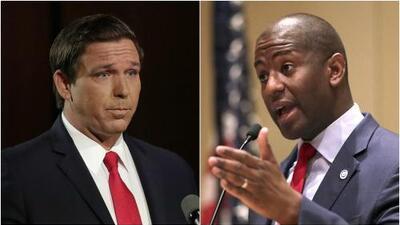Los candidatos a gobernador de Florida: el 'elegido de Trump' y el primer aspirante afroestadounidense
