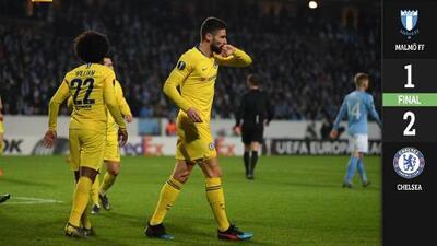Chelsea dejó atrás la pesadilla y venció al Malmö en la Europa League