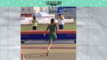 Atleta sin una pierna realiza un impresionante salto
