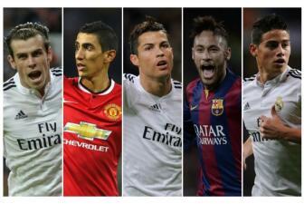 Los futbolistas mejor pagados en el 2014