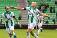 Arjen Robben anotó su primer gol con el Groningen tras su retiro de 15 meses