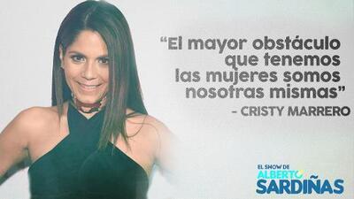 Maria Cristina 'Cristy' Marrero se relaja y coopera con Alberto Sardiñas