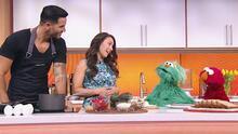 Rosita y Elmo llegaron felices (pero con mucha hambre) a visitar a sus amigos de Despierta América