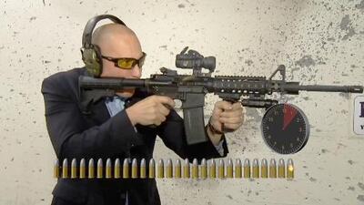 ¿Cuánto tiempo toma?: Disparar treinta tiros con un rifle AR-15