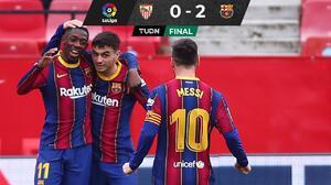 Barcelona gana al Sevilla y se mete al segundo puesto de La Liga