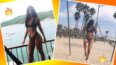 Bárbara de Regil luce bikini en sus vacaciones en California
