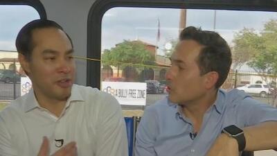 Carlos Calderón visitó a Julián Castro, el hispano que busca ser presidente de EEUU