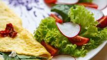 Omelette de pimiento y espinacas    Reto 28