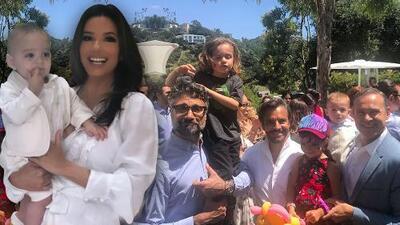 Abrazado por los famosos el hijo de Eva Longoria al celebrar su bautismo y primer cumpleaños