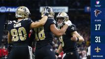 Saints noquean a Falcons y se encumbran a la cima de la Nacional en el Thanksgiving
