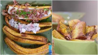 ¡Fáciles y sabrosas! Aprende con el chef Jesús a cocinar cuatro ricas recetas con plátano