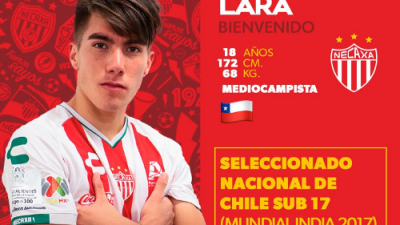 Necaxa ficha al juvenil chileno Martín Lara
