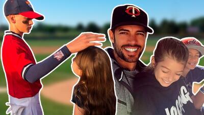 El hijo de William Levy tuvo a los mejores porristas en su juego de béisbol