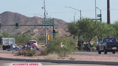 Cae una avioneta a solo pies de las oficinas del FBI en Phoenix y dos personas mueren en el accidente