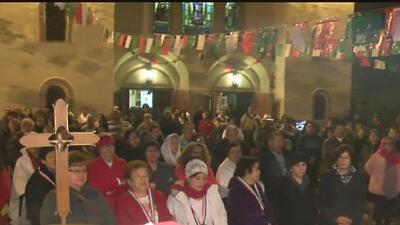 Feligreses se concentran en el santuario de la Virgen de Guadalupe para festejar a 'la morenita'