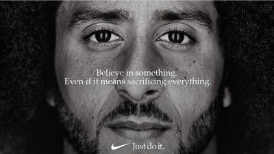 Colin Kaepernick es el rostro de la campaña conmemorativa de Nike