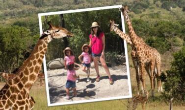 De safari: la nueva aventura de Jacky Bracamontes con sus hijas