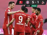 Con dobletes de Robert Lewandowski y Serge Gnabry, el Bayern vence al Colonia