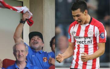 'Chucky' Lozano emocionó a Maradona con su primer gol con el PSV en la Eredivisie
