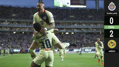 ¡Dos de dos! América volvió a derrotar a Chivas y puso a Cardozo en jaque