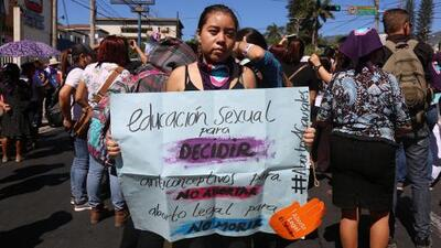 Activists call for an end to violence against women in El Salvador