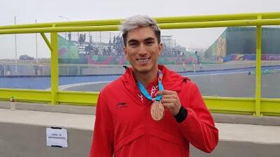 Jorge Martínez da bronce a México en patinaje de velocidad