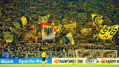 El Muro Amarillo, la descomunal barra del Dortmund que enfrentará el Barcelona